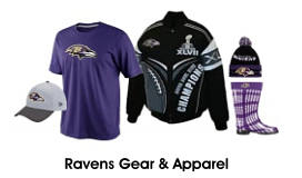 Shop for Ravens Apparel and Gear