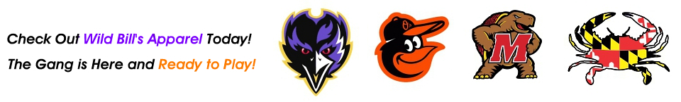 Ravens, Orioles, Utz, Natty Boh, Terps & other great team products