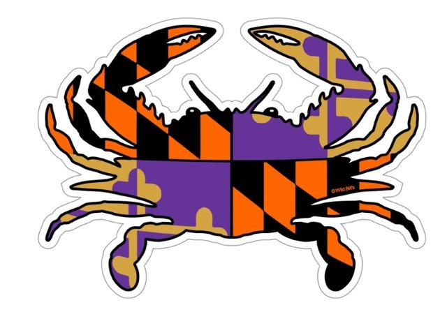 Ravens Maryland Flag Sticker