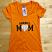 Orange V-Neck  Front