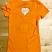 Orange V-Neck Back