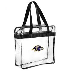 Baltimore Ravens Clear Messenger Basic Tote Bag