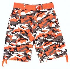 Evolution Orange Camo Shorts