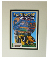 Baltimore Maryland 8 X 10 Matted Print