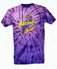 Tie Dye Baltimore Bird Purple T-Shirt