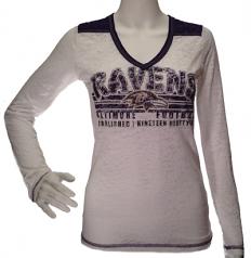 Burnout V-Neck Ravens Long Sleeve Shirt