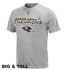 Ravens Grey Super Bowl Champion T-Shirt Big and Tall