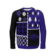 Busy Block Ravens Ugly Sweater
