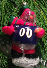 Ravens Glass Snowman Ornament