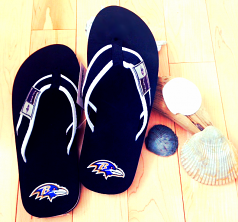 Baltimore Ravens Men's Flip Flops
