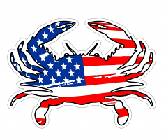 American Crab Magnet Or Decal