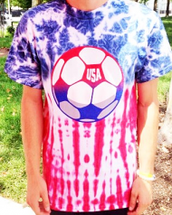 USA  GOAL Tie Dyed Soccer T-Shirt