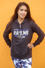 Baltimore Ravens Majestic Black Zip Up Sweat