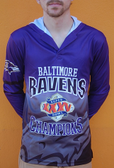 Baltimore Ravens Super Bowl XXXV Commemorative Hooded Shirt