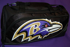 Baltimore Ravens Large Black Duffle Bag
