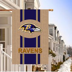 Baltimore Ravens Burlap House Flag