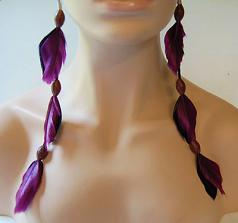Football Feather Earrings