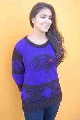 Baltimore Ravens Eyelash Sweater