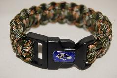 Baltimore Ravens Camo Paracord Bracelet