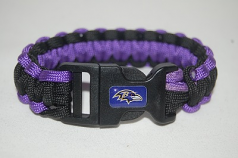 Ravens Team Color Survival Bracelet