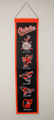 "Orioles ""Logos"" Wool Banner By Winning Streak"