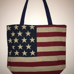 Stars & Stripes Vintage Tote Bag