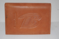 Baltimore Ravens Embossed Leather Tri-Fold Wallet