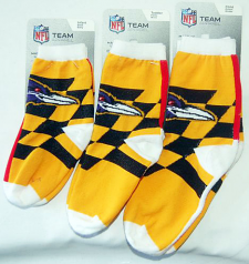 Ravens Maryland Youth Socks