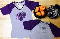 Wild Bill's Mesh Sleeved Ladies Baltimore Football T-Shirt