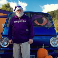 Ravens Big & Tall Men's Zipup Hooded Sweatshirt