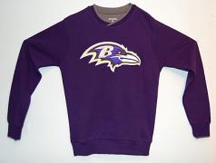 Baltimore Ravens Men's Steel Executive Sweater By Anitigua