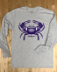 Baltimore Football Crab Long Sleeved T-Shirt