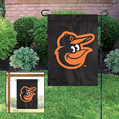 Baltimore Orioles Black Cartoon Bird Garden Flag