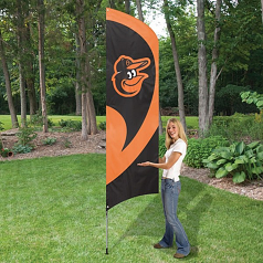 Baltimore Orioles Tall Team Feather Flag