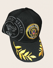 United States Navy Black Adjustable Hat