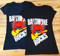 Baltimore Rocks Ladies V-Neck T-Shirt