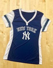 New York Yankees Ladies Game Time Fashion Jersey Shirt
