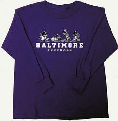Wild Bill's Little Birds Baltimore Football Long Sleeved T-Shirt