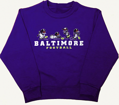 Wild Bill's Little Birds Baltimore Football Crew Neck Sweat