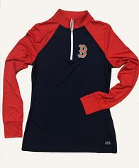 Boston Red Sox Ladies 1/4 Zip Pullover