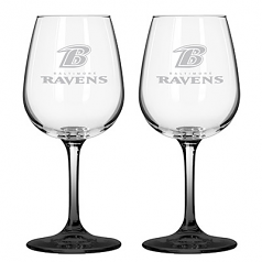 Baltimore Ravens 12oz Color Stem Wine Glass