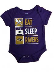 Eat, Sleep, Ravens Infant Onsie