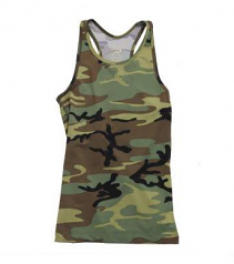Woodland Camo Racerback Ladies Tank