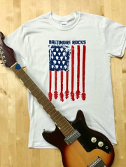 Baltimore Rocks Guitar Flag T-Shirt