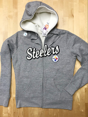 Pittsburgh Steelers Junior Girls Sherpa Zip-up Sweatshirt