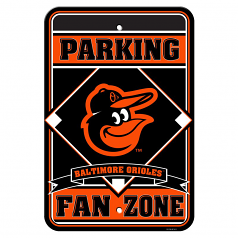 Baltimore Orioles Fan Zone Parking Sign