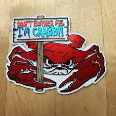 Maryland I'm Crabby Magnet White