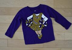 "Baltimore Ravens Toddler ""Be A Cheerleader"" Long Sleeve T-Shirt"