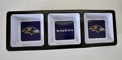Baltimore Ravens Plastic Condiment/Snack Tray