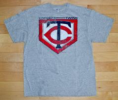 Minnesota Twins Athletic Gray Men's T-Shirt